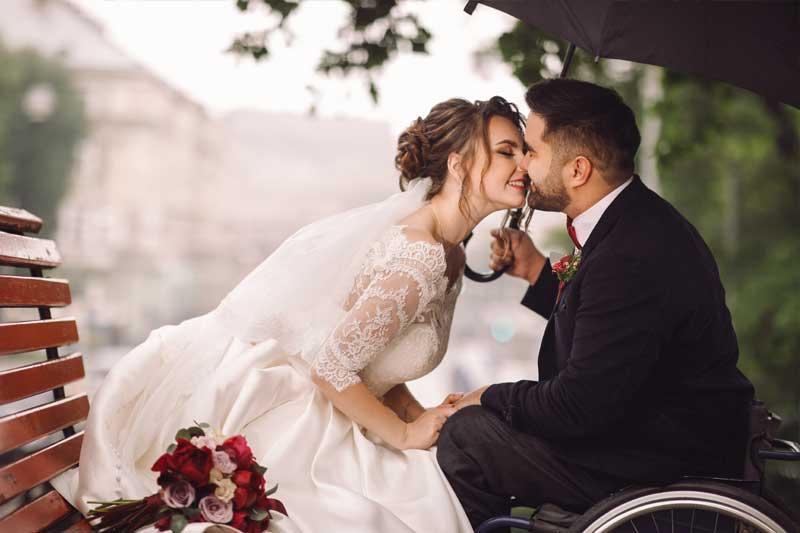 Hochzeitsbilder mal anders - Liebe kennt keine Grenzen
