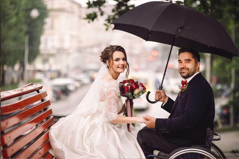 Hochzeitsfotos mal anders - Brautpaar