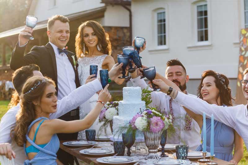 Hochzeitsgäste Fotos - Hochzeit in blau