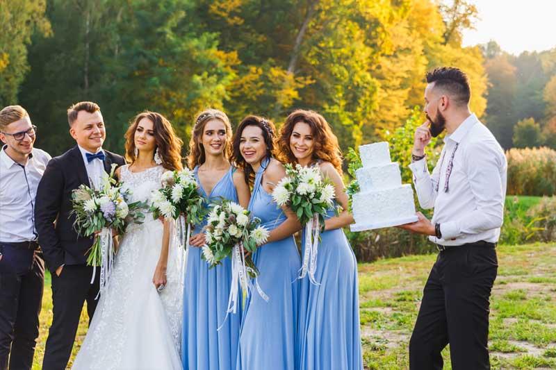 Kleine Torte Hochzeitsgäste Fotos