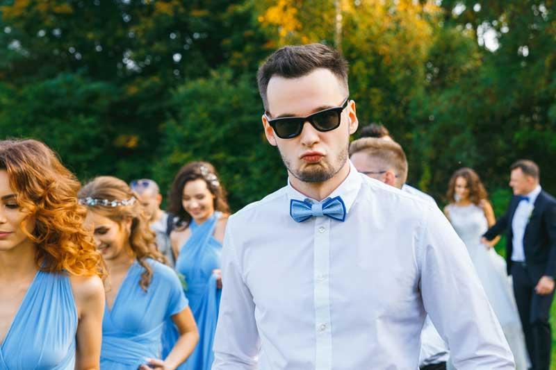 Lustige Hochzeitsgäste Fotos